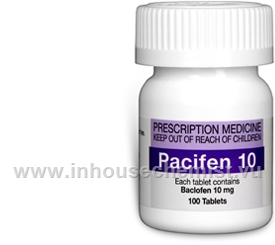 Pacifen 10 (Baclofen 10mg) 100 Tablets/Pack