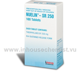 Nuelin SR 250 (Theophylline) 100 Tablets/Pack