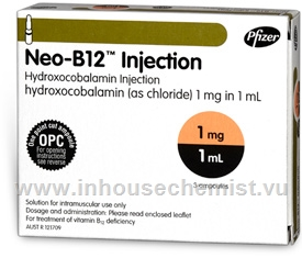 Neo-B12 Injection (Hydroxycobalamin 1mg/ml) 3 x 1ml Ampoules/Pack