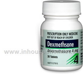Dexmethasone 4mg 30 Tablets/Pack
