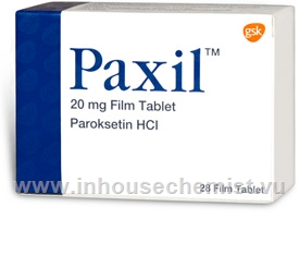 Paxil (Paroxetine 20mg) 28 Tablets/Pack (Turkish)