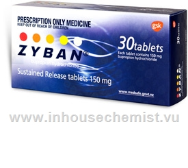 Zyban 150mg 30 Tablets/Pack