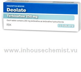 Deolate (Terbinafine 250mg) 14 Tablets/Pack