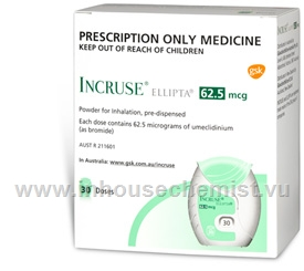Incruse Ellipta (Umeclidinium 62.5mcg) Inhalation Powder 30 Doses/Pack