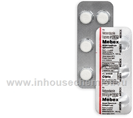 Mebex (Mebendazole 100mg) 6 Tablets/Strip