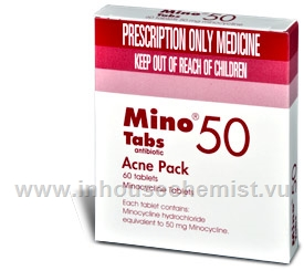 Minocycline 50mg 60 Tablets/Pack