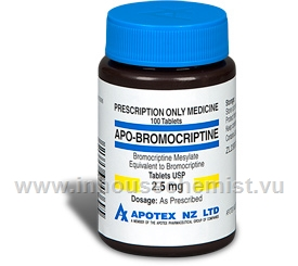 APO-Bromocriptine 2.5mg 100 Tablets/Pack