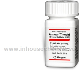 Armour Thyroid (15mg) 100 Tablets/Pack