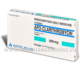 APO-Clarithromycin 500mg 14 Tablets/Pack