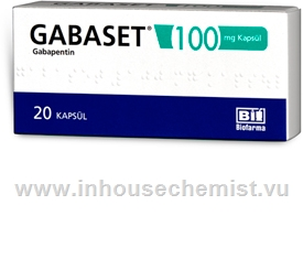 Gabaset (Gabapentin 100mg) 20 Capsules/Pack (Turkish)