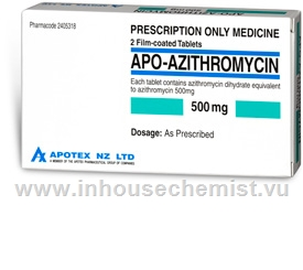 APO-Azithromycin 500mg 2 Tablets/Pack