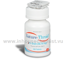 Nature-Throid 0.75 Grain (48.75mg) - 100 Tabs/Bottle