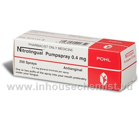 Nitrolingual Pumpspray 0.4mg 250 Sprays/Pack