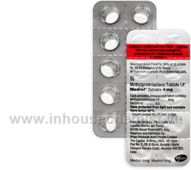 Medrol 4mg (Methylprednisolone) 10 Tablets/Strip