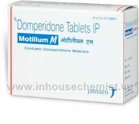 Motilium M (Domperidone) 300 Tablets/Pack