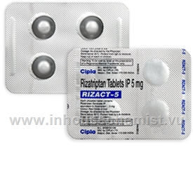 Rizact 5mg (Rizatriptan)  4 Tablets/Pack