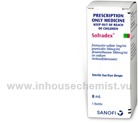 Sofradex Sterile Ear/Eye Drops 8ml/Pack