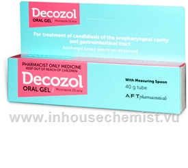 Decozol (Miconazole 2%) Oral Gel 40g Tube
