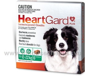 Heartgard Plus Chewables Medium Dog 6 /Pack