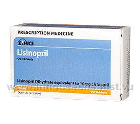 Lisinopril 10mg 90 Tablets/Pack by Ethics