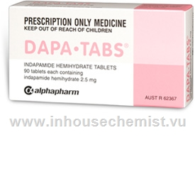 Dapa-Tabs (Indapamide 2.5mg) 90 Tablets/Pack
