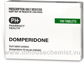 Domperidone Pharmacy Health 100 Tablets/Pack