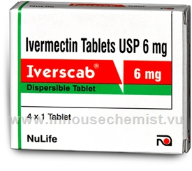 Iverscab (Ivermectin 6mg) 4 Tablets/Strip