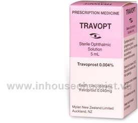 Travopt (Travoprost 0.004%) Eye Drops 5ml/Pack