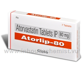 Atorlip 80mg 7 Tablets/Pack