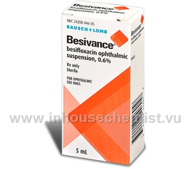 Besivance Ophthalmic Suspension 0.6% 5ml/Pack